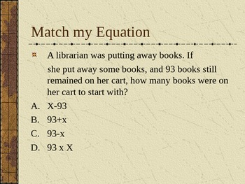 Create an Equation Part Two