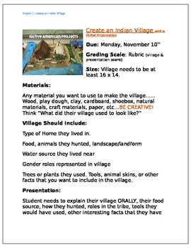 Create an Indian Village Project