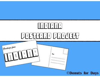 Create an Indiana Postcard Project Directions and Templates Printable