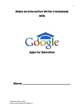 Create an Interactive Writer's Notebook with Google Apps!