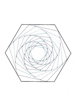 Create an Optical Illusion - A Spiraling Hexagon!