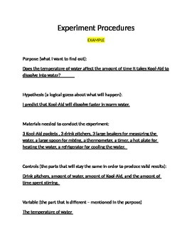 Create a Science Experiment