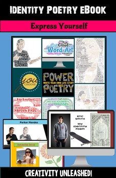Identity Poetry eBook: Poetry Activity, All About Me Poetry Project