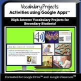 Create and Innovate with Google Drive Vocabulary Activitie