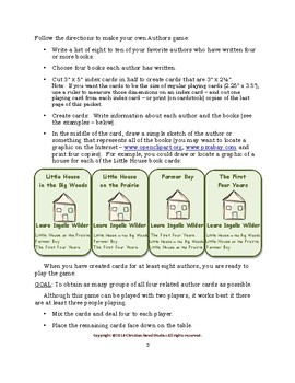 Create and Play an Authors Card Game