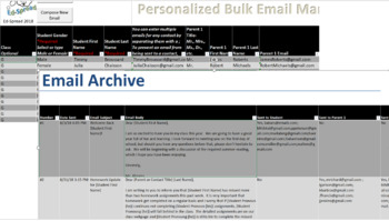 Create and Send Personalized BULK Emails - Email/Communication Tracking included