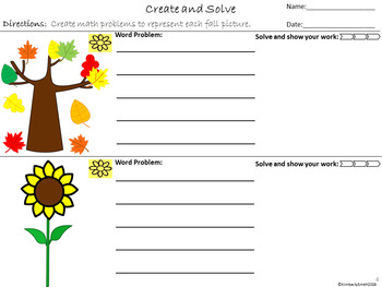 Create and Solve Fall Math Word Problems