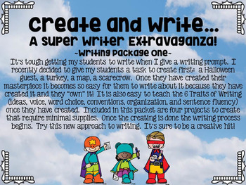Create and Write...A Super Writer Extravaganza... Writing Package One