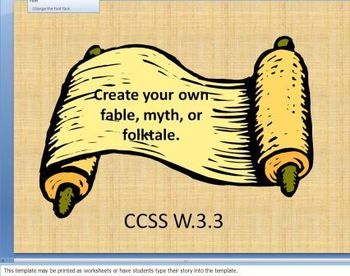 Create Your Own Myths, Folktales, and Fables Storyboard Writing Literacy Center