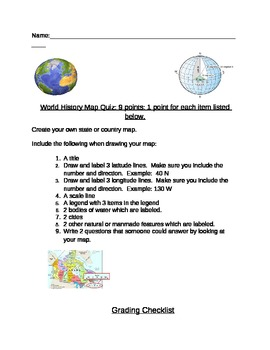 Create your own map geography skills quiz or test
