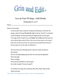 Create better writing: add details. Humorous exercises