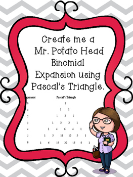 Create me a  Mr. Potato Head Binomial Expansion using Pascal's Triangle.