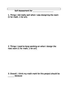 Create my DREAM BEDROOM! An art/math integration activity!