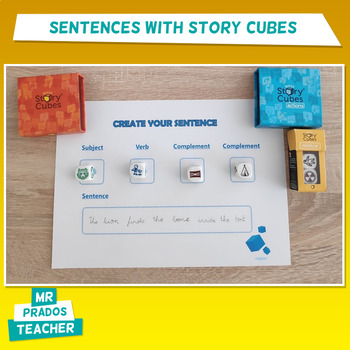 Create sentences with Story Cubes