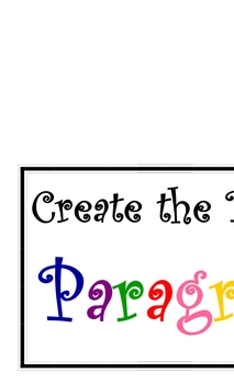 """""""Create the Perfect Paragraph"""" Bulletin Board Posters"""