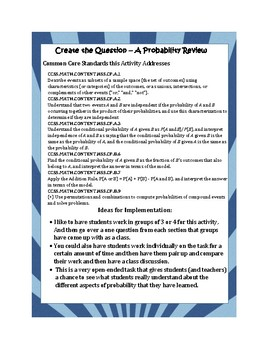 Create the Question Probability Review