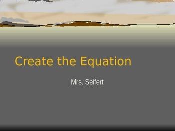 Create the equation