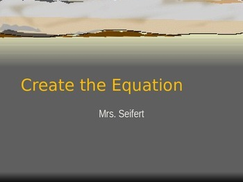 Create the equation