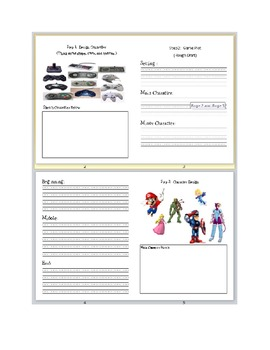 Create you own video game writing activity