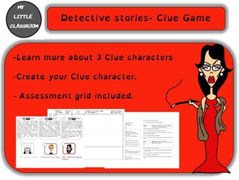 Create your Clue character (Clue Game)