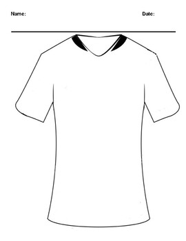 Create your Own Futbol Jersey Worksheet