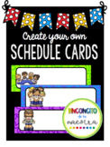 Create your Own Schedule Cards!!! Any language, any font!
