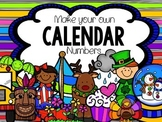 Create your own 3 month calendar