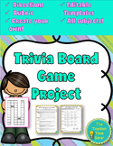 Create your own Board Game (directions, rubric, and editable board template)