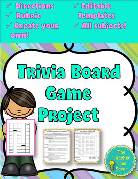 Create your own Board Game (directions, rubric, and editab