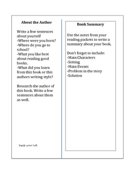Create your own Book Cover -Instructional Guide