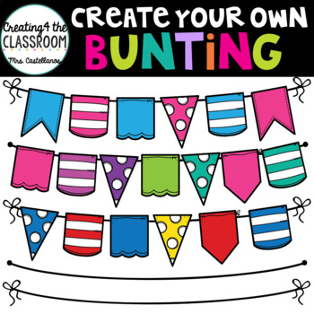 Create your own Bunting {Bunting Clip Art}