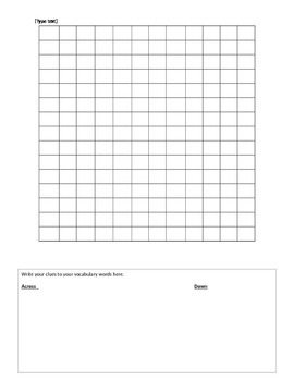 Create your own Crossword PuzzIle