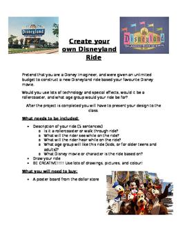 Create your own Disneyland Ride