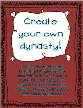 Create your own Dynasty!