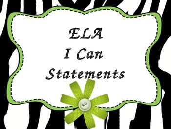 Create your own:  ELA CCS I Can Lime dot Zebra theme