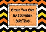 Create your own Halloween Bunting {FREE}