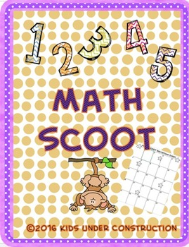 MATH SCOOT PRE-MADE AND CREATE YOUR OWN