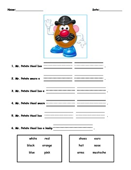 Create your own Potato Head!