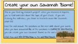 Create your own Savannah Biome!  (Digital Google Classroom)