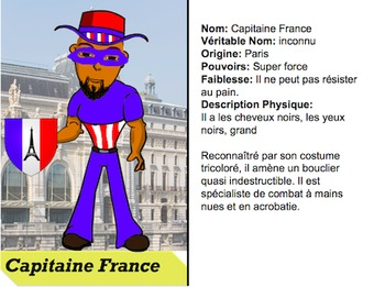 Create your own Superhero in French