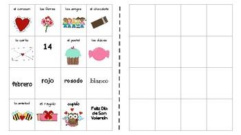 Create your own bingo -Día de San Valentín