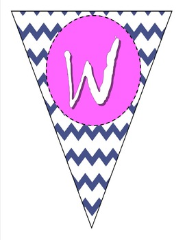 Create your own chevron banner using publisher!