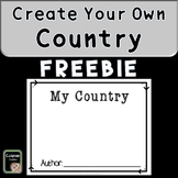 Geography Country Project FREEBIE (create your own country)
