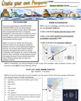 Create your own digital passport