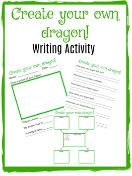 Create your own dragon: Writing Activity