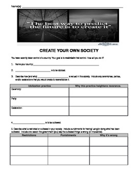 Create your own (dystopian) society