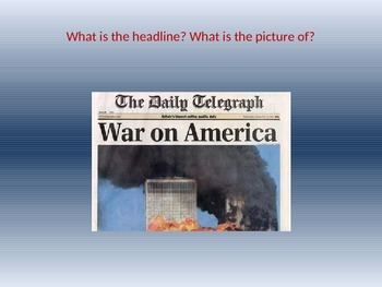Create your own newspaper about 9/11