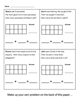 Create your own word problems