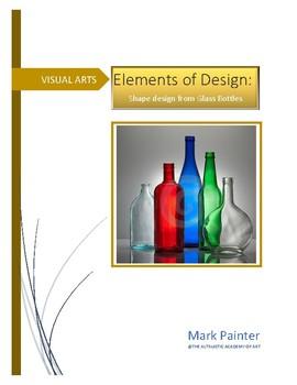 Creating 2D design based on bottle shapes