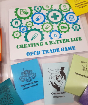 Creating A Better Life - Card Swap Trading Game - OECD Human Wellbeing